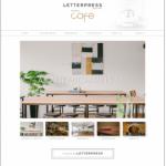 レタープレス Gallery Cafe Website